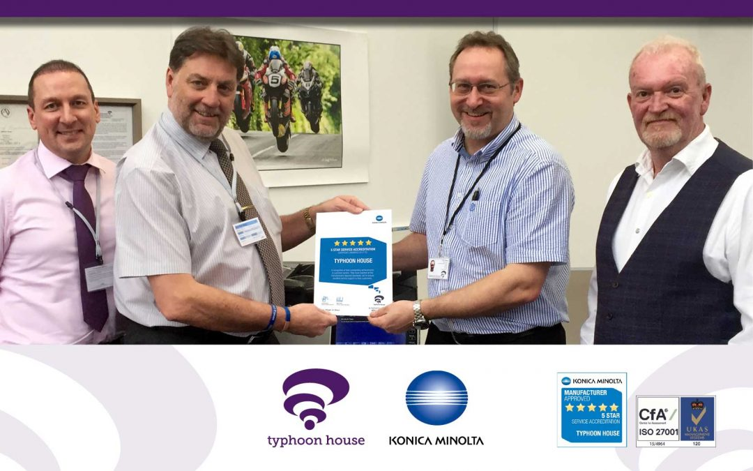 Prestigious 5-Star Service Accreditation from Konica Minolta